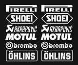 2 x Pirelli Aufkleber, vinyl, decal, (21cm) Top Qualität !!! + Farbwahl (weiß)