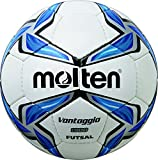 MOLTEN Futsal - Balón de fútbol, Color (weiß/Blau/Silber), Talla 4