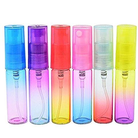 Vococal® 12 Stück 5ml Mini Nachfüllbar Leeren Parfüm Glas Sprühflasche - Reisen Parfümzerstäuber Pumpe Sprayer Flasche