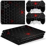 DolDer PlayStation 4 Pro (PS4 Pro) Skin Sticker/Aufkleber Folie schützende Haut Schale für Sony PS4 PRO Konsole und 2 Dualshock Controller - 0889