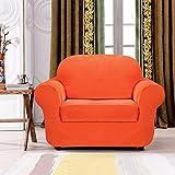 Subrtex 2 Stück kariert Sofabezug Sofahusse Sesselhusse Stretchhusse Sesselbezug Sofaüberwurf