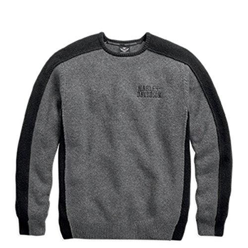 Harley-Davidson Colorblock Pullover Sweater 96047-16VM Herren Sweater, grau, XL (Empire-taille-wolle Pullover)