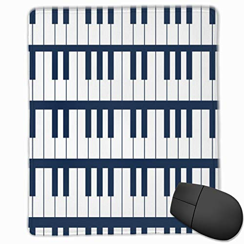 Rock N Roll Piano Mouse Pad Non Slip Rubber Backing Gaming Mouse Pad Cute 9.8 X 11.8 inch