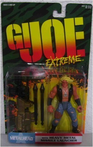 GI Joe Extreme Metalhead with Heavy Metal Missile Launcher