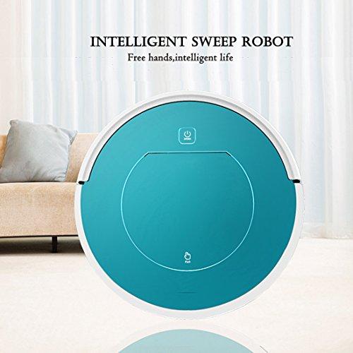 [neue Version 2018] Mincheda Robot Staubsauger Multi-Function Vakuum Reinigung Roboter mit Self saugen und wischen für Familie/Hotelzimmer/Small Office