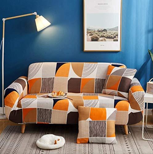 Copridivano tessuto elasticizzato 1/2/3/4 posti , sedia con elastico jacquard motivo geometrico colorato divano a due posti divano copriletto