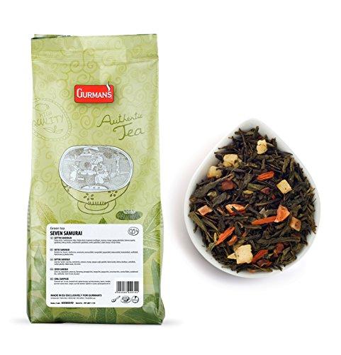 GURMAN SIEBEN SAMURAI GRÜNER TEE – Lose Blätter Grüner Tee & Obst Bits 500g