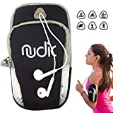 Nudic Fitness Running Armband Phone Holder Bag, Multi Pockets For Phone Of Upto 6.2 inches Compatible with Iphone 6, 6s, 7, 8, X, Samsung S7, S8, S9, Plus, Note 8, Oneplus 5t, Pixel 2, Huawei P20 Pro