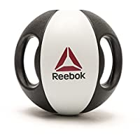 Reebok Double Grip Med Ball, Black And White - 6 Kg