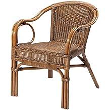 Rotin Design REBAJAS : -43% Sillon de ratan para comedor o salon Palma marron