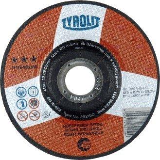 Tyrolit Disco di taglio-115x 1mm in acciaio inox piatto 41, 1pezzo, 101125070