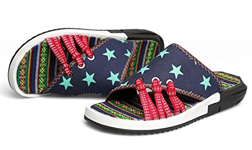 Beauqueen Männer National Style Fashion Individualität Gesunde Strand Outdoor Hausschuhe Anti-Rutsch Wearable Outsoles Breathable Material Patterned Casual Sandalen 38-44 stars 189