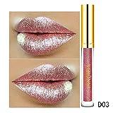 BauycyLippenstift Matt Satin Lipgloss cremige Textur perlige Textur & Paillettenstruktur, Lipgloss, feuchtigkeitsspendende Feuchtigkeitsspendende, Lippenbalsam-Lippenglasur, verblasst nicht