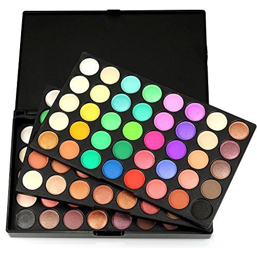 JACKY 120 Colors Cosmetic Powder Eyeshadow Palette Makeup Set Matt