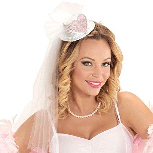 NET TOYS JGA Hut mit Brautschleier Hochzeitsschleier Braut Kopfschmuck Junggesellinnenabschied Minihut Bride to Be