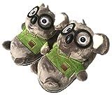 Las Zapatillas de casa de la Felpa de la Forma Animal del Invierno 3D Lindas Forman los Zapatos Interiores Cosplay Animales Calientes para Las Mujeres (Koala)