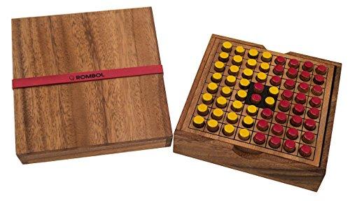 ROMBOL Reversi - Interessantes Strategiespiel für 2 Personen inkl. praktischem Verschlussband, Farbe:rot/gelb (Für Denksport-spiele Erwachsene)