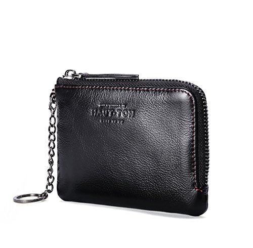 ZXDOP Geldbörsen Herren Kurze Absatz Geldbörse Leder Kleine Tasche Baotou Schicht aus Leder Multifunktions-Wallet Zipper ( farbe : 2# ) 1#