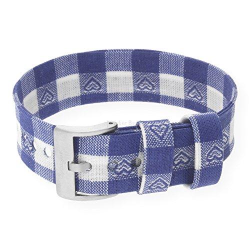 Waidzeit Wechsel-Armband BA0401 PFAU Armband blau weiß