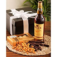 Luxury Bells Whisky, chocolates & Nuts Hamper - perfect for any occasion from The Gift Box