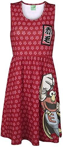 Sesamstraße Super Elmo Japan Kleid multicolour XS