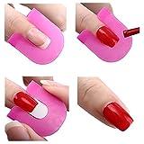 tininna 26Unidades reutilizables Plantillas de uñas (Anti rebosadero adhesivo clavos borde–Barrera la piel esmalte de uñas
