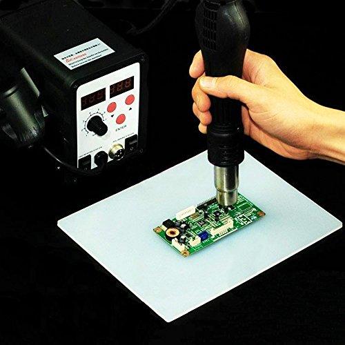MZMing Lötmatte / [1Pack] Silikonmatte Isolierung Silikon Arbeitsmatte für Solder Pad Hitzebeständige 500 ° C Löt- und Lötmatte Hitzebeständige Matte 23 * 35 * 3mm - Transparent Weiß
