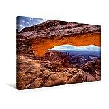 Premium Textil-Leinwand 45 cm x 30 cm quer, Ein Motiv aus dem Kalender National-Parks der USA | Wandbild, Bild auf Keilrahmen, Fertigbild auf echter Leinwand, Leinwanddruck: Mesa Arch (CALVENDO Natur)