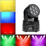 Lyre led, Lixada DMX-512 Lampe de Scène, 4 In 1 RGBW, Mini 70W 9/14 100-240V canaux, Vocale Commande, tête mobile, Eclairage scene Pour Noël Party Disco Show