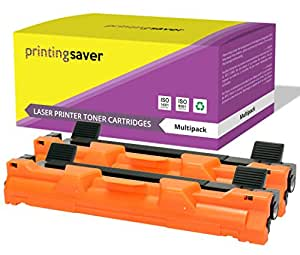 TN1050Printing Saver Pack di 2toner compatibili per Brother DCP-1510, DCP-1512, DCP-1610W, HL-1110, HL-1112, HL-1210W, MFC-1810, MFC-1910W stampanti