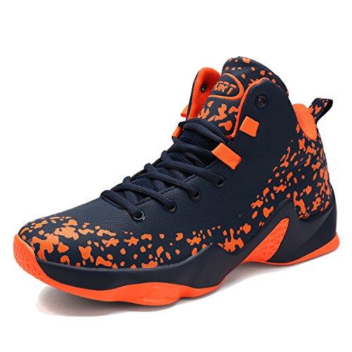 ASHION Herren Basketball Schuhe Outdoorschuhe Basketballstiefel Sneaker Sportschuhe(Rot EU44) (Basketball-schuhe Und Eine)