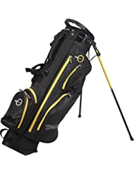 Spalding Sac de golf trépied imperméable-Noir/jaune fluo/7,5 cm