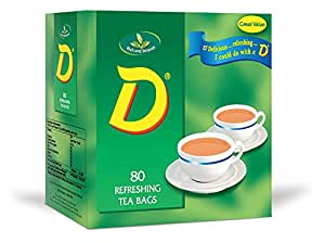 D Tea 80 Teabags (Pack of 12, Total 960 Teabags)