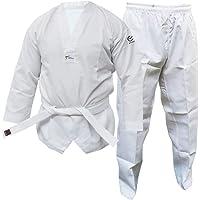 Wacoku Taekwondo Uniforme pour Adulte et Enfant Dobok WT Approuvé Hommes Femmes Blanc