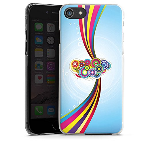 Apple iPhone X Silikon Hülle Case Schutzhülle Schnörkel Regenbogen Muster Hard Case transparent