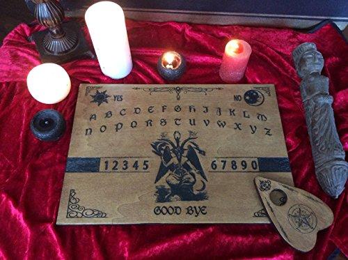Vorstand Ouija Baphomet. Holzschnitt. Handgefertigt. Kommunizieren Sie mit den Geistern. Sprechen Sie. Divinative Künste. Satan.