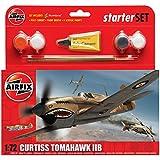 Airfix A55101 Curtiss P-40B Tomahawk 1:72 Scale Model Small Starter Set