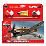 Airfix 1:72 Curtiss P-40b Tomahawk Military Aircraft Gift Set