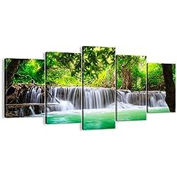 Cuadro sobre lienzo - 5 piezas - Impresión en lienzo - Ancho: 160cm, Altura: 85cm - Foto número 2502 - listo para colgar - en un marco - EA160x85-2502