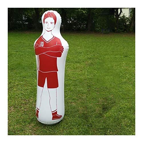 HATHOR-23 Aufblasbar Becher Boxen Boxsäule, Simuliert Dummy Fußball Ausbildung Ziel, Schauspielkunst Wie EIN Hindernis, 63x 20 Zoll (Color : Red)