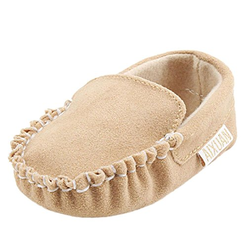 Bescita Baby Girl Macias Dupla Camurça Único Sapato Sapatos Flats Cáqui