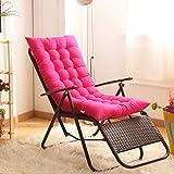 Tomister Coussin de Chaise d'extérieur avec Attaches matelassé, futon pour Chaise à Bascule rembourré pour Jardin 125 x 48 cm