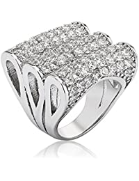 Shaze Triple Jazzy Party Fashion Ring for Women/Girls Rings for Women Ring for Girlfriend
