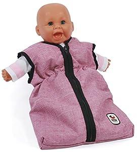 Bayer Chic 200079270muñecas de Saco de Dormir para bebé muñecas, Jeans Color Rosa