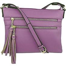 b98711432 Luckycat Bolsos de hombro para Mujeres, mujer Vintage pequeña PU cuero Bolso  de mano Colgante