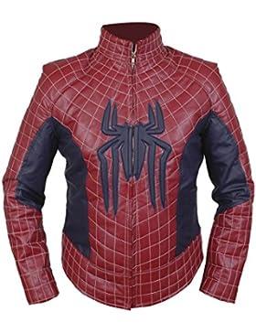 Leatherly Chaqueta de hombre Spiderman 2 Cuero Chaqueta