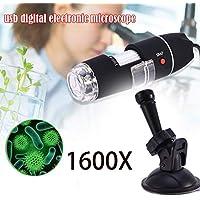 starter 1600X portátil microscopio-2-en-1 USB portátil microscopio Digital detección electrónica