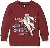 ESPRIT KIDS Jungen Sweatshirt Sweat Shirt, Rot (Plum 871), 92