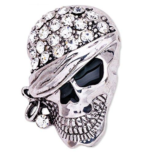 LUOEM Esqueleto Broche Pin Cráneo Insignia Gótica Broche Punk...