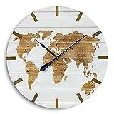 Wand-Uhr Global D74cm weiss Tanne 1xAA, 1,5V, nicht enthalten